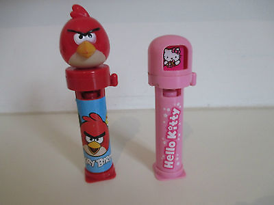 Hello Kitty and Angry Birds Candy Dispensers