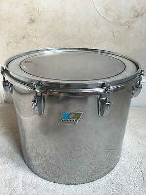 Vintage 70s Ludwig Stainless Steel 15 Inch Drum Concert Tom Clip style mount