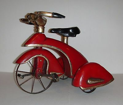 Replica of an Antique Morgan Red Bird Tricycle