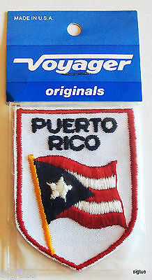 Vintage PUERTO RICO Voyager Patch Souvenir Embroidered NEW MIP!