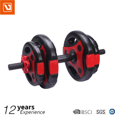 LiveUp Dumbbell Set Weight Dumbbells Plates Bar Home Gym Fitness Exercise 12KG