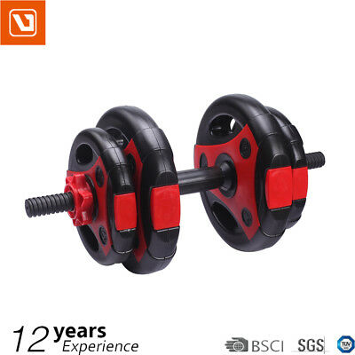 LiveUp Dumbbell Set Weight Dumbbells Plates Bar Home Gym Fitness Exercise 10KG