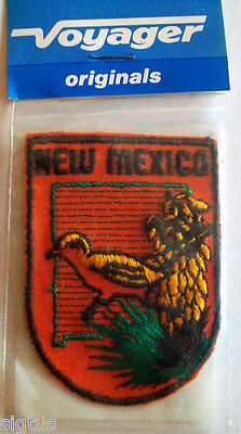 Vintage Voyager New Mexico State Patch Souvenir Embroidered-State Bird NEW MIP