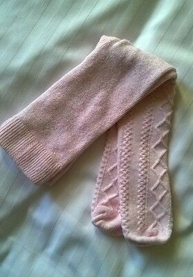 Baby Girls Pale Pink Tights Size 0-3 Months