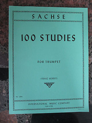 SACHSE 100 STUDIES FOR TRUMPET Franz Herbst International Music Company Lessons