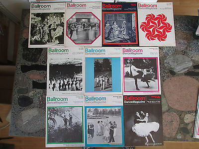 BALLROOM DANCE MAGAZINE LOT OF 10 VINTAGE ISSUES from 1965 Dancemagazine Dancing