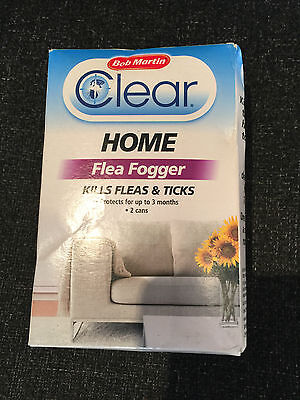 Bob Martin Clear Home Flea Fogger (2x 100ML) For up to 3 Months Protection