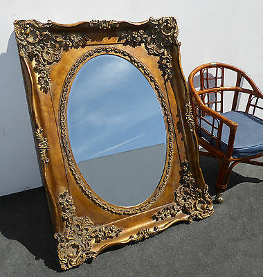 Large EXQUISITE Ornate Rococo French Provincial Wall Mantle MIRROR Louis XVI