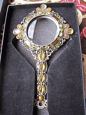 Christiana Magnifying Glass - With Crystals