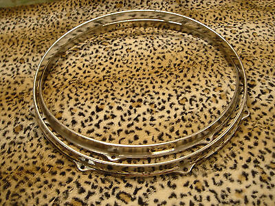 VINTAGE GRETSCH 1960s 8 LUG SNARE DRUM HOOPS.....MODERATE PITTING........STOUT..
