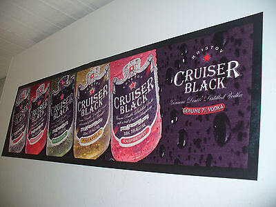Vintage Cruiser Rubber Back Bar Mat Never Used 10 Yrs Old Collectable