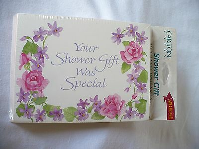 Carlton Cards~ 10 Shower Gift Notecards with Envelopes NOS