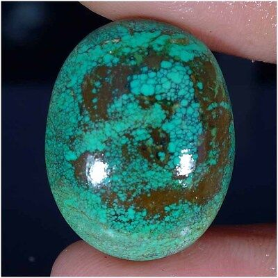 27.20Cts. 100% NATURAL TIBET TURQUOISE OVAL CABOCHON UNTREATED LOOSE GEMSTONES