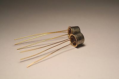Pair 2N1304 NPN Germanium Transistors NEW OLD STOCK - Central Semiconductor