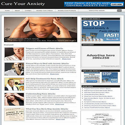 Established 'CURE YOUR ANXIETY' Website Turnkey Business (FREE HOSTING)