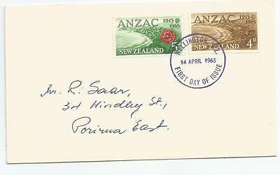 First Day Cover New Zealand Anzac Stamps