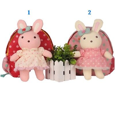 Lovely Toddler Korean Momoailey Safety Harness Backpack with Removable Rabbit