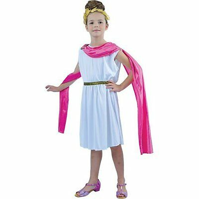 Girls Medium Roman Goddess Costume for Toga Party Rome Sparticus Fancy Dress Up