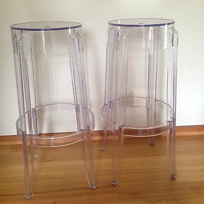 CLEAR PLASTIC  Ghost Stool  – 76cm (for 1 only)
