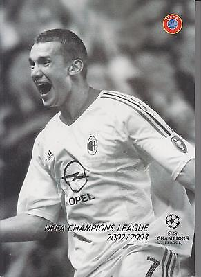 TECHNICAL REPORT UEFA - JUVENTUS v AC MILAN 2002 / 2003 CHAMPIONS LEAGUE FINAL