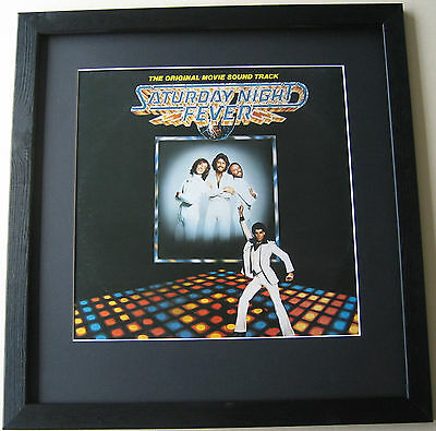 BEE GEES Saturday Night Fever FRAMED ALBUM COVER