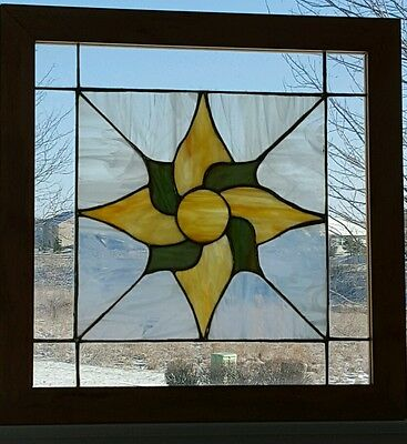 Yellow Stained Glass Window