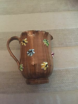 Collectable1950's Vintage small Italian Jug With Very Unusual 'Fluted'Rim