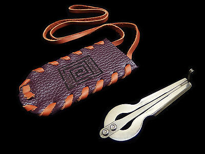 Jew's Harp by D.Glazyrin /Compass/ in leather case Musical instrument Jaw Harp