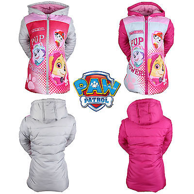 PAW PATROL GIRLS JACKET WINTER COAT PUFFER NEW Official Licensed 3-8 YEARS
