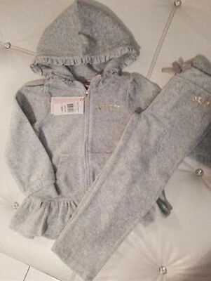 Girls JUICY COUTURE TRACKSUIT New Age 3 Grey BNWT Outfit DESIGNER