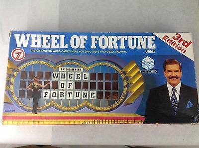 Wheel Of Fortune Board Game - (1987) - 3rd Edition - Vintage