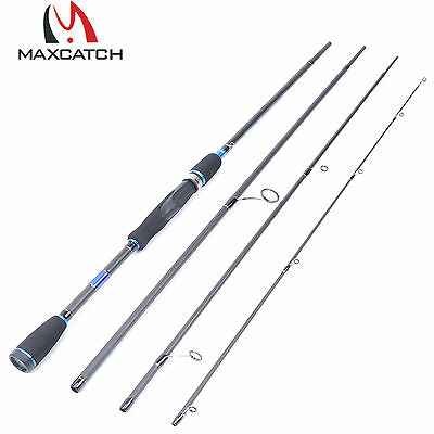 """2.7M Spinning Rod 8'9"""" Graphite Travel Fishing Rod 4Pieces saltwater Rod"""