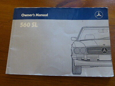 Mercedes Benz 560Sl R107 Owners Manual