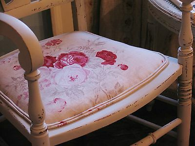 Kate Forman Roses Painted Antique Carver Chair Arm Chair Bedroom Chair