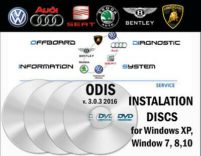 VW Diagnostic ODIS 3.0.3 installation DVDs express from UK