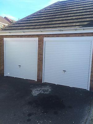 Cardale Merlin Horizontal Steel Canopy White Up & Over Door Fully Installed
