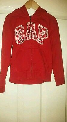 Girls red Gap hoody with zip age 5