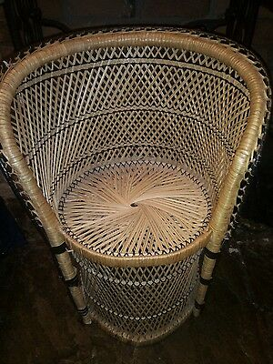 Vintage Childs Kids Peacock Chair