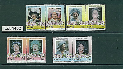Lot 1402..Nevis..selection of 8 MNH stamps from 1985..Queen Mum 85th Birthday