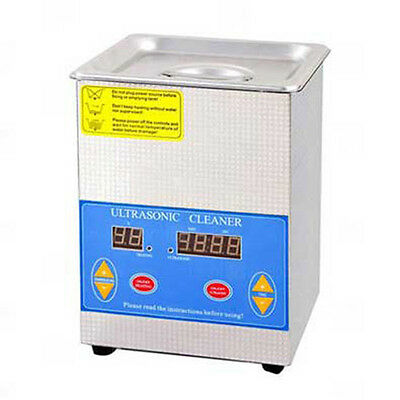 Sc  2L Digital Industrial Ultrasonic Cleaner With Heating, Incl Ss Basket And Li