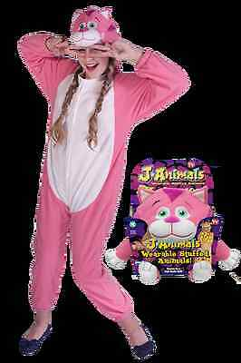 Snuggle Pets stuffed animal wearable onesies ( pink cat small size 106-120 cm )