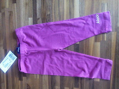 Pink sparkly mexx leggings size 9-12 months BNWT