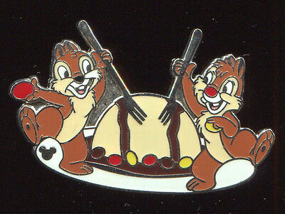 WDW Hidden Mickey Chip & Dale Food Zebra Dome Disney Pin 51320
