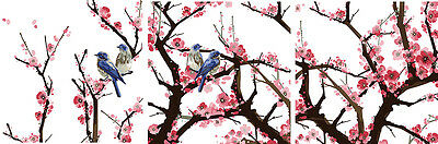 """DIY 20X20"""" Acrylic Paint By Number On Canvas Three Parts Kit Birds in Flower 953"""
