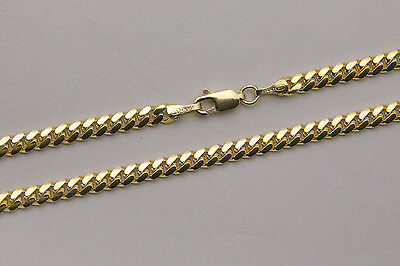 "14k Solid Yellow Gold 4mm Men Women Miami Cuban Link Chain Necklace Size 20""-36"""