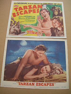 Front-of-house group TARZAN ESCAPES - US Lobby cards 1954