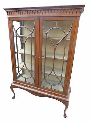 Quality Edwardian Mahogany and Inlaid Display Cabinet