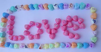 100 HEARTS Mini Bath Bombs fizzy 10 LUSH SCENTS  Amazing Christmas Gifts