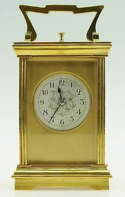 Fantastic Antique French Bronze Ormolu Carriage Clock Mask Dial Repeat Function