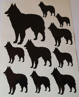 Belgian Shepherd dog vinyl stickers/ car decals/ window decals